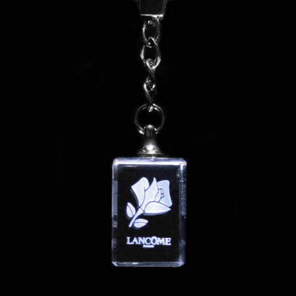 porte-clés-verre-gravure-laser-lancome