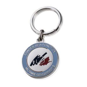 porte-cles-luxe-email-metal-argente-cfmg-gendarmerie
