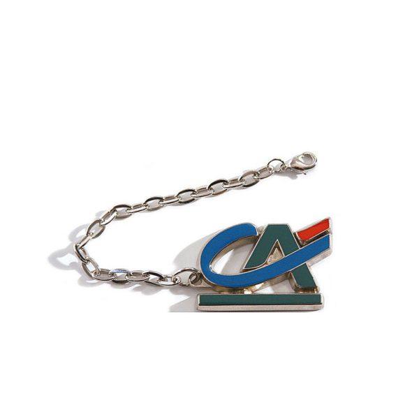 porte-cles-metal-nickel-brillant-chainette-bijouterie-email-cloisonné-crédit-agricole