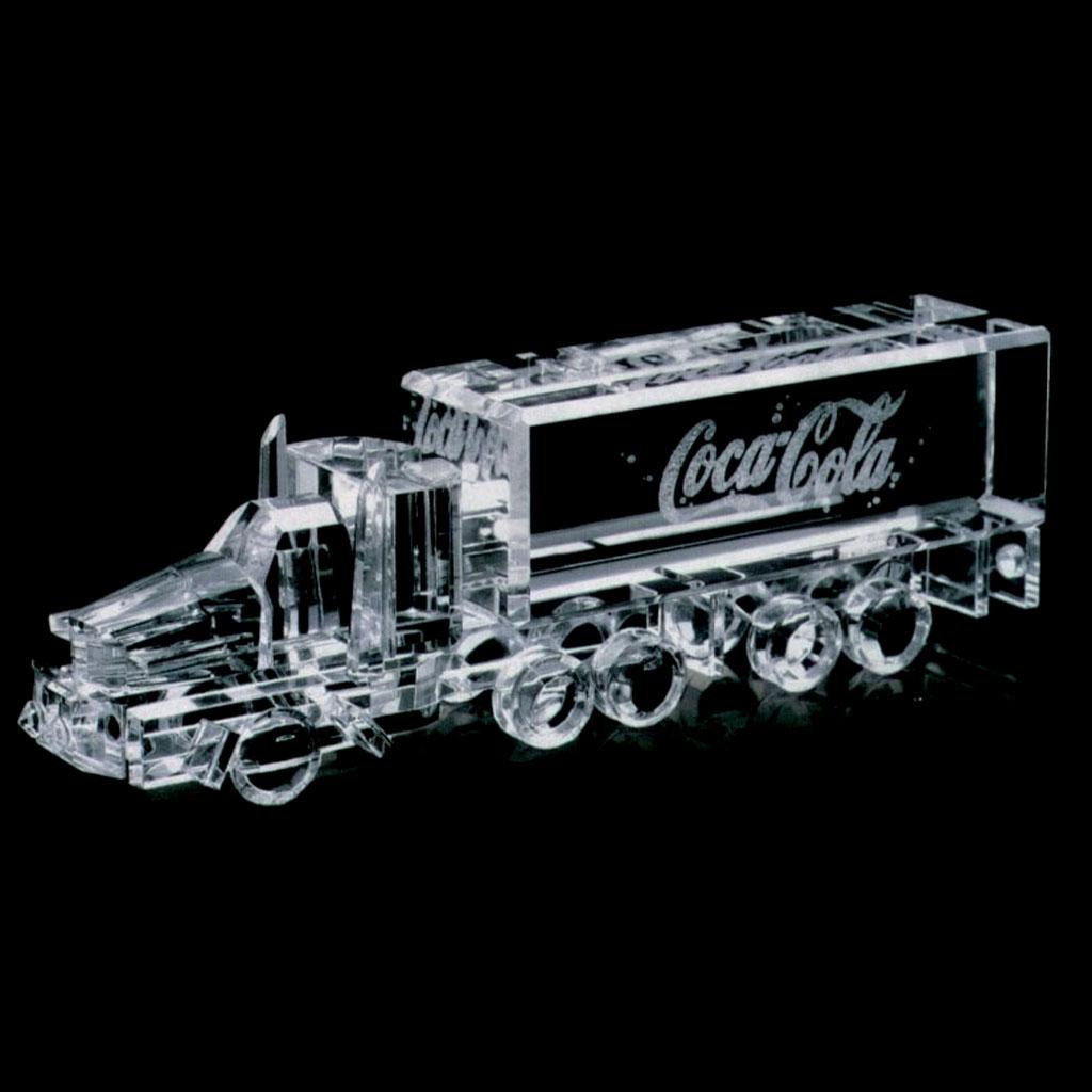 sculpture en verre-sur-mesure-camion-coca-cola