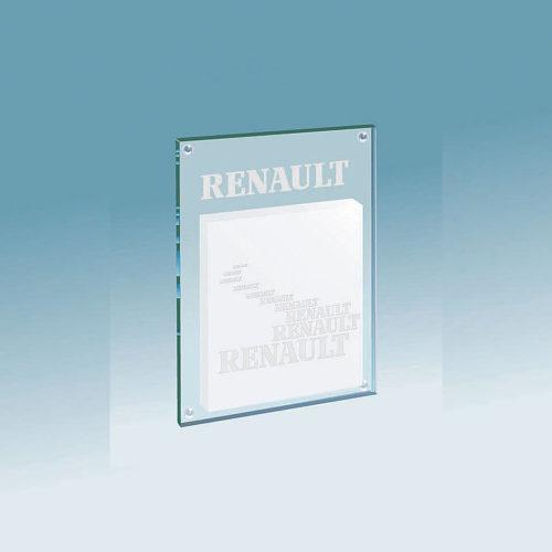 Support en verre pour un bloc repositionnable – Renault
