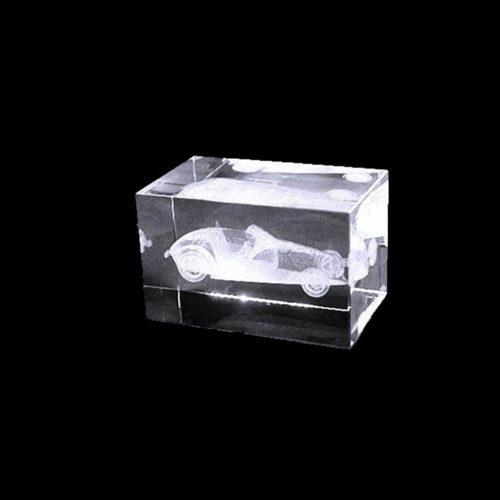 Bloc en verre gravure Laser 3D – Chrysler