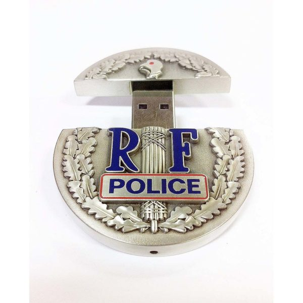cle-usb-metal-luxe-email-cloisonne-argent-vieilli-police-nationale