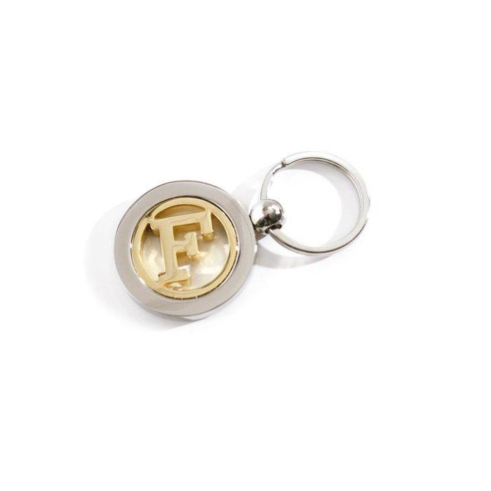 porte-cle-bicolore-metal-luxe-rotatif-nickel-satine-or-brillant-anneau-brise-plat-dorure-24k-F