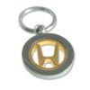 porte-cle-bicolore-metal-luxe-rotatif-nickel-satine-or-brillant-anneau-brise-plat-dorure-24k-honda