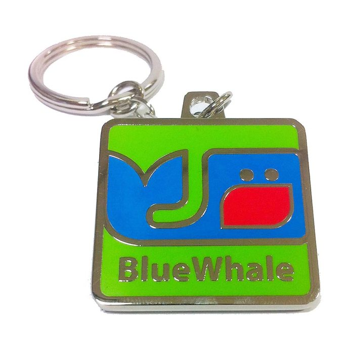 porte-cles-luxe-email-cloisonné-nickel-brillant-annea-brise-plat-bluewhale