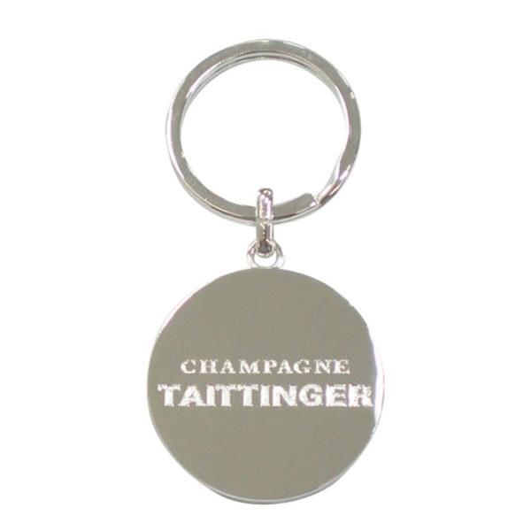 porte-cles-luxe-metal-argente-taittinger-verso