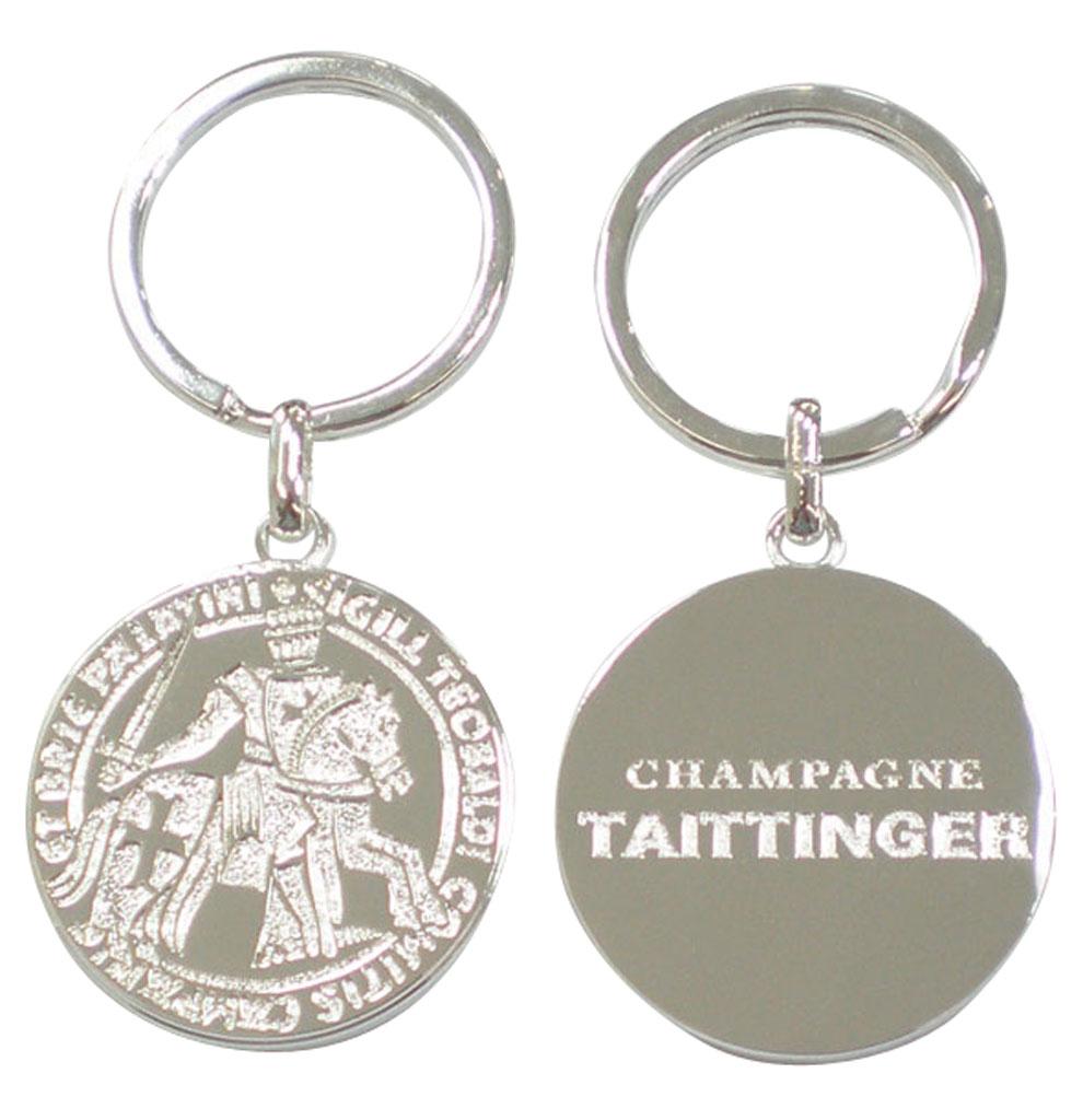 porte-cles-luxe-metal-argente-taittinger