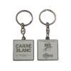 porte-cles-metal-email-cloisonne-nickel-brillant-luxe-carré-blanc-roxim