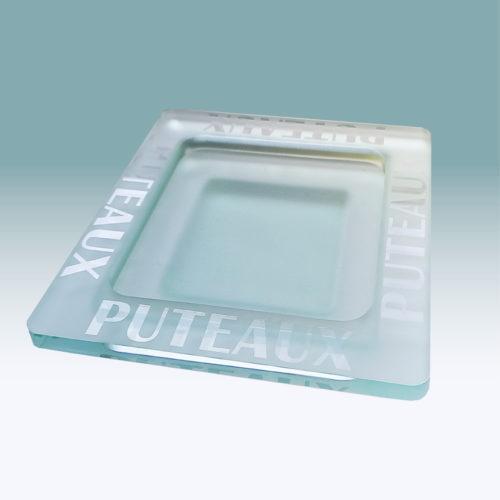 Vide-Poches en verre recyclé logo sablé